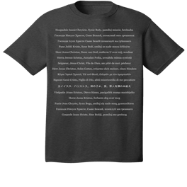 The International Jesus Prayer Tee by Pascha Press